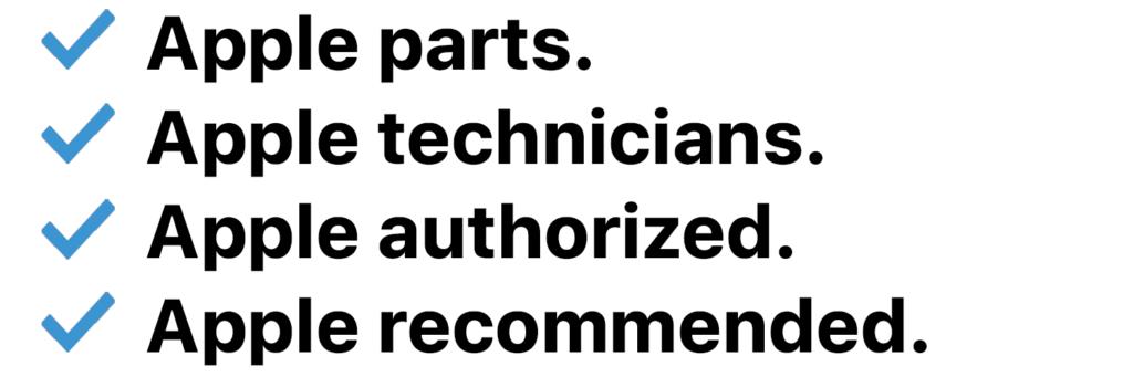 apple authorized iPhone screen repair